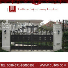 Factory direct supply wrought iron bronze gate