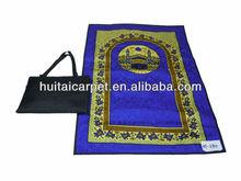 Muslim prayer carpet mat with bag for muslim