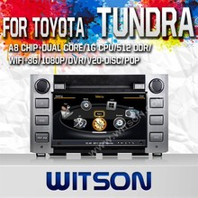 WITSON DOUBLE DIN CAR DVD GPS FOR TOYOTA TUNDRA 2014 WITH CAPACTIVE SCREEN BLUETOOTH RDS 3G WIFI