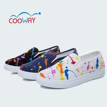 China fábrica de zapatos, para zapatos de tela, zapato plano pintado a mano