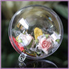 7cm Clear Plastic ball 2 part Christmas Baubles birthday Easter craft ball