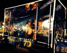 2015 hot sell F1 driving simulator,truck mobile 7D cinema