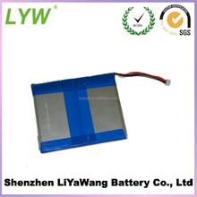 604576 4000 mAh recharge li-on battery pack 3.7v in flat shape