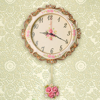 Direct Selling 2015 large decorative retro vintage style glass wall clock modern resin high quality clocks 2.15kg 35cm BY001