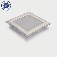 QC glass frame square recessed led panel light 10w LEC031010WA01TX