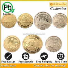 Wholesale made in china products gold and silver self defence weapon coins