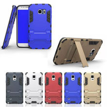 Robot heavy duty with stand phone case for samsung s6