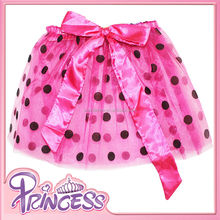 Big Bow Knot Chinldren Dance Costumes Polka Dots Pink Halloween Wholesale Tutu Skirts