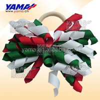 New arrival holiday girls decoration colorful ribbon wholesale hair bows