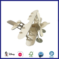 Hotsale Custom Design 3D Paper Model Cardboard Toy Airplane Puzzle