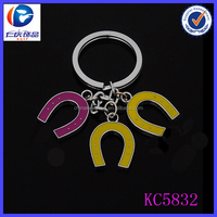 Wholesale newest style all kinds of alphabet letter U keychain