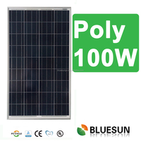 Bluesun poly 12v best price power 100w solar panel 100w
