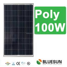 Bluesun poly 12v best price power 100w solar panel 100w