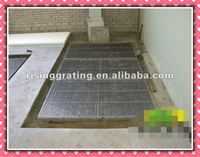steel grate drain trench for cable