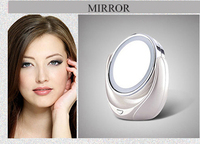 2015 new design High quality dressing room chrome finish table LED cosmetic mirror for gift items