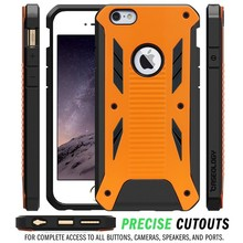 Hybird pc+tpu shock proof armor case cover for iphone 6 plus
