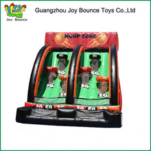 2015 new design giant inflatable basketball hoop game for kids and adults
