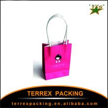 2015 newest popular paper shopping bag logo/packaging box