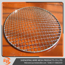 round crimped mesh for barbecue grill wire netting