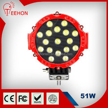 51w red housing jeep car led lighting