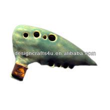 hand-crafted elegant ceramic ocarina music box