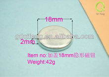 wholesale round18-2mm hidden magnetic button with cap for bag