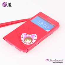Caso de cuero del teléfono móvil personalizado para samsung I9100