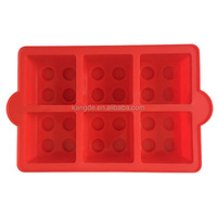 6 Cavities Building Block Cake Molds,Square Silicone Dessert Tray, Silicone Ice Cube Tray