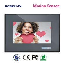 7inch Made in China Hot Free Post LCD AD, Motion Activated Advertising Display with 12V rechargeable battery