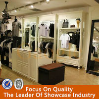 wholesale clothing store shelves for clothing store/clothing store furniture