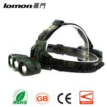 Lomon Best Led Plastic Rechargeable Headlight For Hunting 3 Led Headlamp