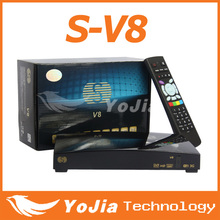 S-V8 Digital Satellite Receiver V8 S-V8 Set Top Box Support WEBTV USB Wifi 3G Weather Forecast Biss Key 2x USB Slot