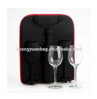 foldable faux wine bottle carrier bag