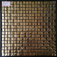 foshan cheap foiled crystal glass mosaic tile for wall decoration