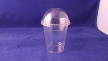 disposable clear PET plastic cup with lid