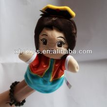 Custom custom plush toy girl doll hand puppet