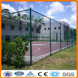 P4P chain link fence(diamond wire mesh) for sports filed fence