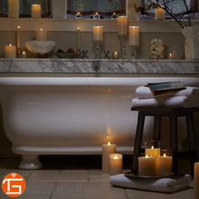 Flickering 360 Degrees Scented Paraffin Wax LED Candle Lights with Realistic Flame