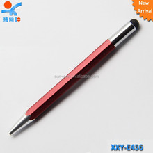 high quality fashion style touch screen pen,2 in 1 crystal touch screen stylus pen