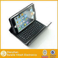 hot selling Wrieless Bluetooth Leather Keyboard Case For IPad mini