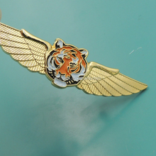 lion iron metal crafts airplane lapel pin with safety pin