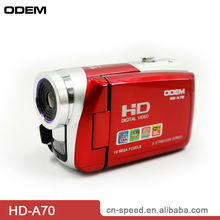 camcorders,DVC,3 inch TFT LCD,Digital zoom 16X (HD-A70)