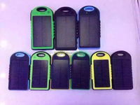 Wholesale 5000MAH Portable Solar Power Bank Mobile Battery Charger for iphone ,power bank for Andriod