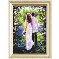 2015 new products digital oil painting modern design for France wedding