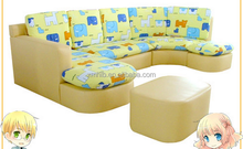fcs-055 waterproof sectional sythetic leather children sofa