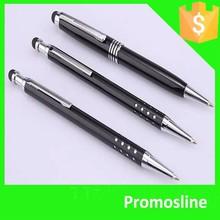 Hot Selling Promotional simple metal pen logo custom black printed roller pens metal