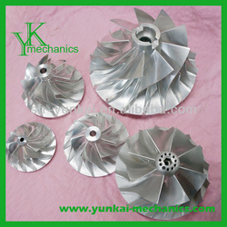 High precision cnc machining stainless steel aircompressor turbo turbine impeller