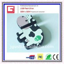 Real capacity Popular Promotional Usb Stick in cow shape