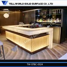 Modern design bar counter/Glowing stone bar counter /LED furniture flashing led light bar counter