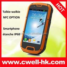 ALPS S09 IP68 Waterproof Rugged mobile phone Quad Core android 4.2 g-sensor light sensor proximity sensor smart phone